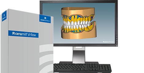 Software module for dental laboratories for digital full dentures