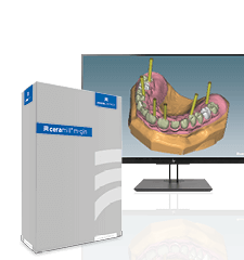 Software module for dental labs for the fabrication of implant bridges with gingiva section