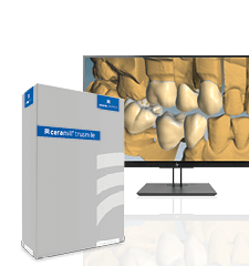 Screen displaying CAD software module Ceramill TruSmile